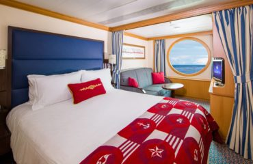 03 Deluxe Oceanview Stateroom with 1 large porthole